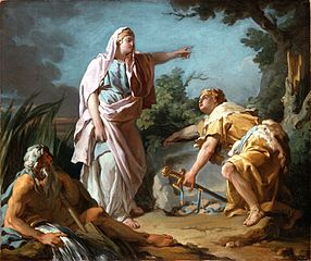 Aethra Showing her Son Theseus the Place Where his Father had Hidden his Arms