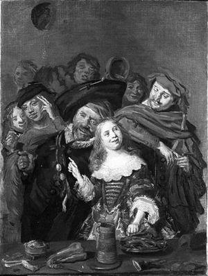 Shrovetide Revellers - Image: After Frans Hals Shrovetide revellers NK1564