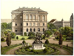 Croatian Academy of Sciences and Arts - Academy Palace in the 1890s