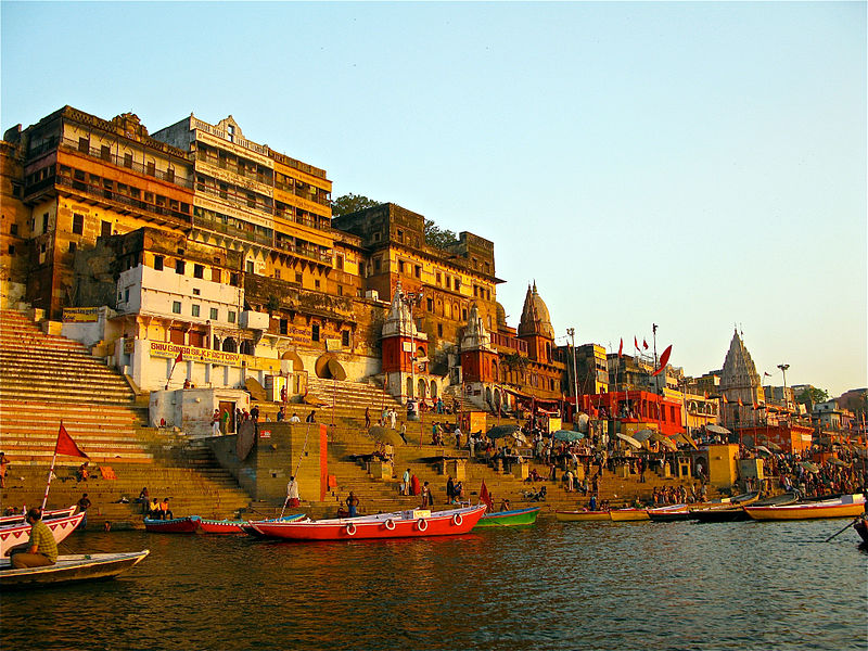 One of the ghats in Varanasi