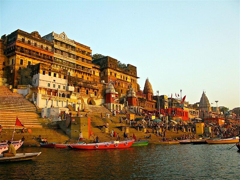 One of the ghats in Varanasi
