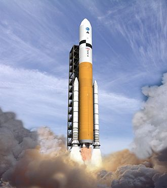 Ares V - Artist's impression of the Ares V at liftoff
