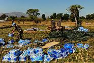 Aid airdrop over Mirebalais 2010-01-21 3