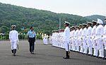 Air Chief Marshal Arup Raha reviewing the ceremonial guard during Passing-out parade held at INA.jpg