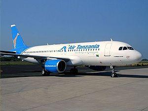 Air Tanzania - The leased Airbus A320.