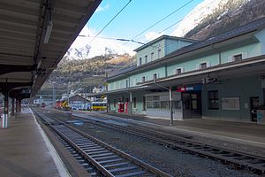 Airolo railway station - Airolo station building and platforms