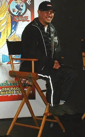 Akira Toriyama - Akira Toriyama at Shonen Jump launch party, New York (2002)