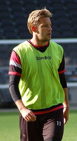 Alan Smith (footballer, born 1980) - Smith training for Milton Keynes Dons in 2013