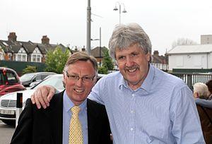 Phil Parkes (footballer, born 1950) - Phil Parkes with fellow ex-Hammer Alan Taylor at Upton Park 02 May 2015
