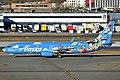 Alaska Airlines Boeing 737-890 N537AS (Friendship and Beyond at Disneyland Resort - Pixar Pier livery) at JFK Airport.jpg