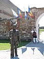 Alba Carolina Fortress 2011 - Guard and Statue.jpg