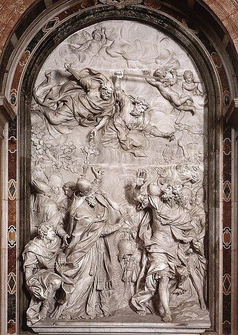Papa Leo I ve Attila'nın Konuşması ( Vatikan San Pietro Bazilikasından )