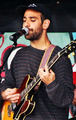 Alex Bleeker - Bleeker performing with Alex Bleeker and the Freaks at Saylestock in Ridgewood, New Jersey in 2015