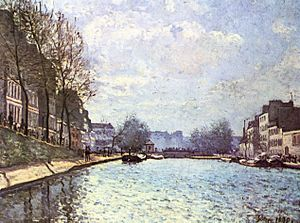 Impressionism - Alfred Sisley, View of the Saint-Martin Canal, Paris, 1870, Musée d'Orsay