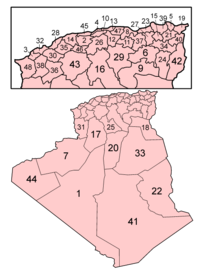 Algeria provinces numbered.png