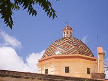 La cupola della chiesa di San Michele, uno dei simboli della città.