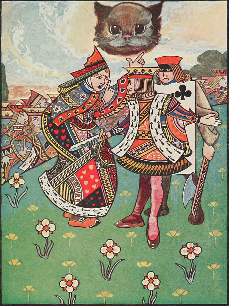 Alice's Adventures in Wonderland - Carroll, Robinson - S149 - There was a dispute going on between the executioner, the King, and the Queen.jpg