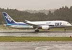 All Nippon Airways B787-8 (JA806A) landing at Narita International Airport.jpg
