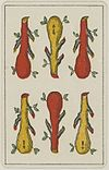 Aluette card deck - Grimaud - 1858-1890 - Six of Clubs.jpg