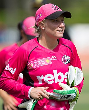 Alyssa Healy - Alyssa Healy playing for the Sydney Sixers