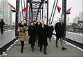 Ambassador Branstad Visits Dandong Broken Bridge at the China-DPRK Border, 2018 (40661710662).jpg