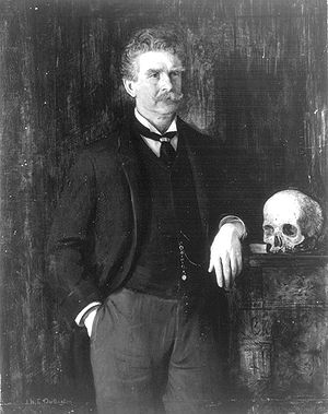 Ambrose Bierce. Portrait by J.H.E. Partington.