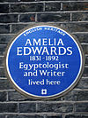 Amelia Edwards 1831-1892 Egyptologist and Writer lived here.jpg