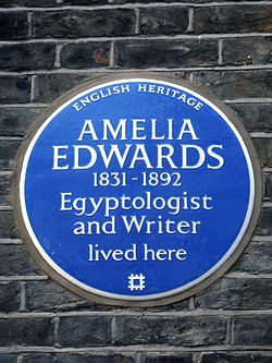 Amelia edwards 1831 1892 egyptologist and writer lived here