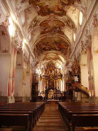 Amorbach Abbey - Interior of the abbey church