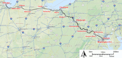 Capitol Limited Amtrak Train Wikipedia - Amtrak map usa