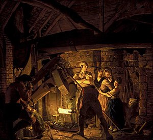 The Blacksmith's Shop - Image: An Iron Forge 1772