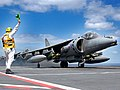 An RAF GR7A Harrier conducted the first successful sortie carrying an Enhanced Paveway 2 laser guided bomb to its target during Exercise Magic Carpet. MOD 45146089.jpg