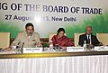 Anand Sharma chairing the Board of Trade Meeting, in New Delhi on August 27, 2013. The Minister of State for Commerce & Industry, Dr. (Smt.) D. Purandeswari and the Commerce Secretary, Shri S.R. Rao are also seen.jpg