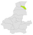 Andkhoy district location in map of Faryab province.png