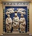 Andrea della robbia, madonna col bambino tra i ss. bartolomeo e longino, dalla cappella delle carceri nel palazzo pubblico di montepulciano 01.jpg
