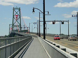 Angus L. Macdonald Bridge - Angus L. Macdonald Bridge on Canada Day