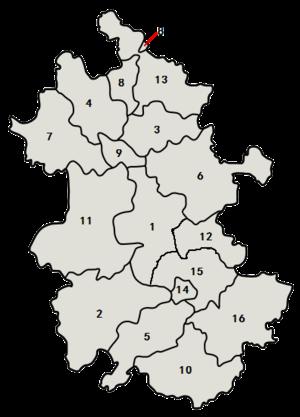 Områder i Anhui