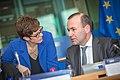 Annegret Kramp-Karrenbauer and Manfred Weber.jpg
