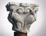 Anonyme toulousain - Chapiteau de colonne simple , Lions dans des lianes - Musée des Augustins - ME 221 (2).jpg