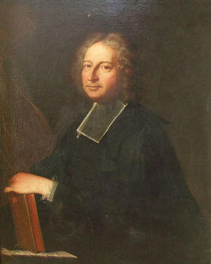 Antoine Anselme - Portrait of Abbot Anselme by Hyacinthe Rigaud, 1719, Private collection.