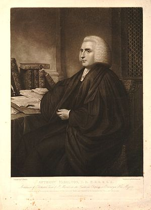 Anthony Hamilton (Archdeacon of Colchester) - Anthony Hamilton, 1806 engraving