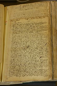 Page in a handwritten manuscript volume
