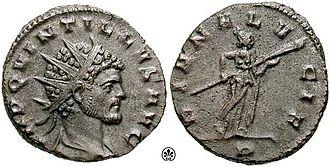 Quintillus - Image: Antoninianus Quintillus s 3243