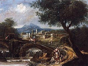 Antonio Diziani - Image: Antonio Diziani Landscape with Bridge WGA06354