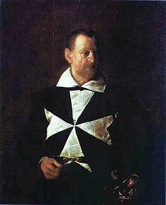 1608 in art - Image: Antonio Martelli, Cavaliere di Malta Caravaggio