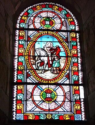 Antonne-et-Trigonant - Image: Antonne église vitrail St Martin (1)
