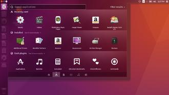 Unity (user interface) - Dash App Lens on Ubuntu 16.04