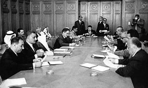 1964 Arab League summit (Cairo) - Arab heads of state in a meeting during the summit