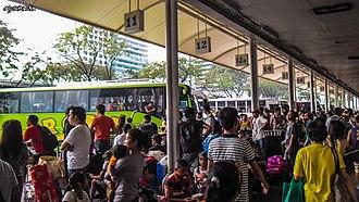 Araneta Center - The Bus terminal at the Araneta Center in 2013