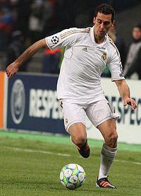 Arbeloa chơi cho Real Madrid năm 2012